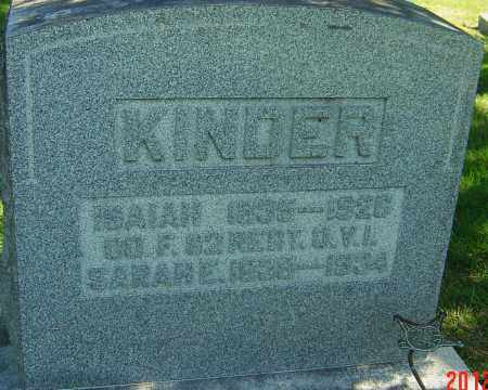 KINDER, ISAIAH - Franklin County, Ohio | ISAIAH KINDER - Ohio Gravestone Photos
