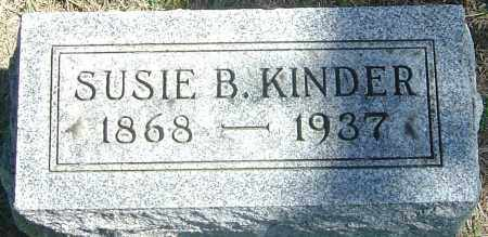 STOCKWELL KINDER, SUSIE B - Franklin County, Ohio | SUSIE B STOCKWELL KINDER - Ohio Gravestone Photos