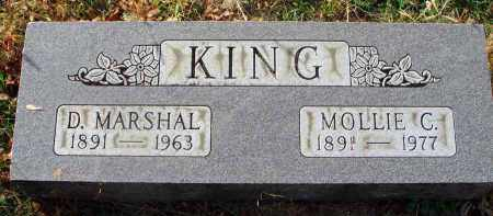KING, D. MARSHAL - Franklin County, Ohio | D. MARSHAL KING - Ohio Gravestone Photos