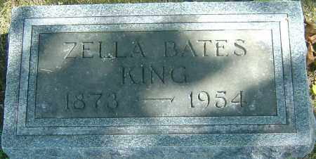 BATES KING, ZELLA - Franklin County, Ohio | ZELLA BATES KING - Ohio Gravestone Photos