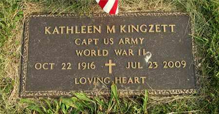 KINGZETT, KATHLEEN M. - Franklin County, Ohio | KATHLEEN M. KINGZETT - Ohio Gravestone Photos