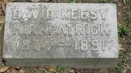 KIRKPATRICK, DAVID KEESY - Franklin County, Ohio | DAVID KEESY KIRKPATRICK - Ohio Gravestone Photos