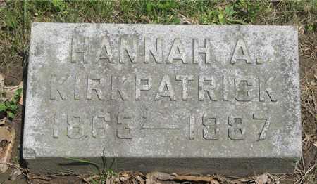 KIRKPATRICK, HANNAH A. - Franklin County, Ohio | HANNAH A. KIRKPATRICK - Ohio Gravestone Photos