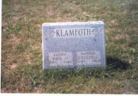 KLAMFOTH, LILLIAN E - Franklin County, Ohio | LILLIAN E KLAMFOTH - Ohio Gravestone Photos