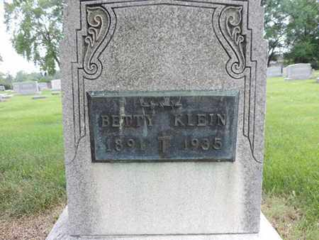 KLEIN, BETTY - Franklin County, Ohio | BETTY KLEIN - Ohio Gravestone Photos