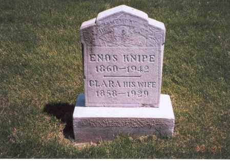 KNIPE, ENOS - Franklin County, Ohio | ENOS KNIPE - Ohio Gravestone Photos