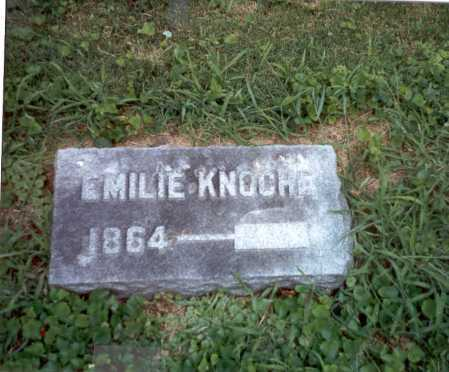 KNOCHE, EMILIE - Franklin County, Ohio | EMILIE KNOCHE - Ohio Gravestone Photos
