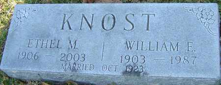 KNOST, WILLIAM E - Franklin County, Ohio | WILLIAM E KNOST - Ohio Gravestone Photos