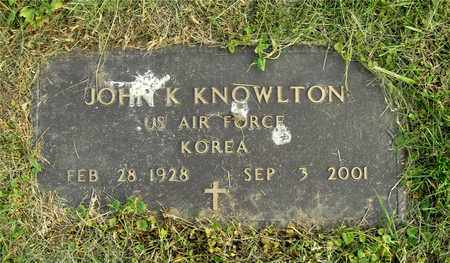KNOWLTON, JOHN K. - Franklin County, Ohio | JOHN K. KNOWLTON - Ohio Gravestone Photos