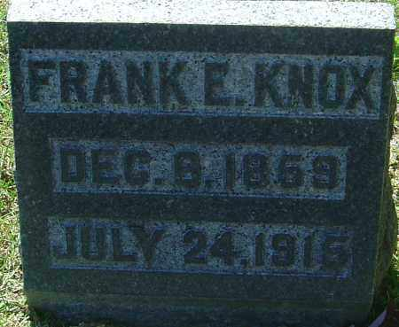 KNOX, FRANK E - Franklin County, Ohio | FRANK E KNOX - Ohio Gravestone Photos