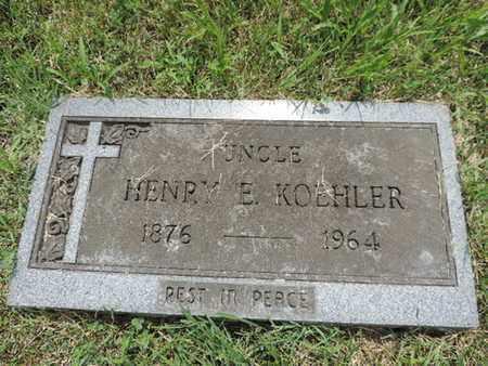 KOEHLER, HENRY E. - Franklin County, Ohio   HENRY E. KOEHLER - Ohio Gravestone Photos