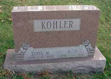 KOHLER, ETHEL M. - Franklin County, Ohio | ETHEL M. KOHLER - Ohio Gravestone Photos