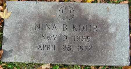 KOHR, NINA B - Franklin County, Ohio | NINA B KOHR - Ohio Gravestone Photos