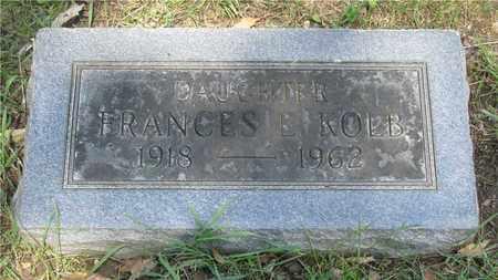 KOLB, FRANCES E. - Franklin County, Ohio | FRANCES E. KOLB - Ohio Gravestone Photos