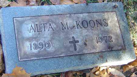 KOONS, ALTA M - Franklin County, Ohio | ALTA M KOONS - Ohio Gravestone Photos