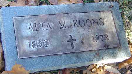 KOONS, ALTA M - Franklin County, Ohio | ALTA M KOONS - Ohio Gravestone Photos