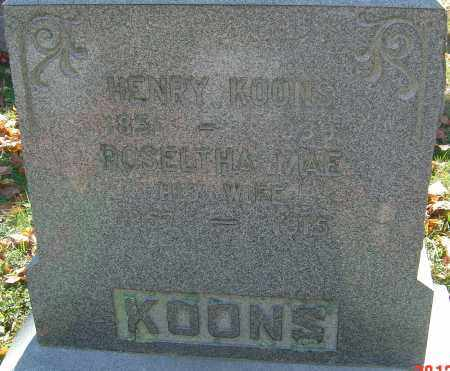 KOONS, ROSELTHA MAE - Franklin County, Ohio | ROSELTHA MAE KOONS - Ohio Gravestone Photos
