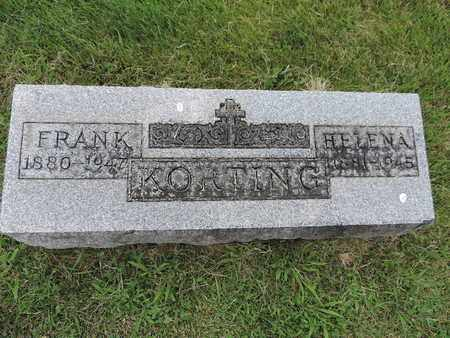 KORTING, FRANK - Franklin County, Ohio | FRANK KORTING - Ohio Gravestone Photos
