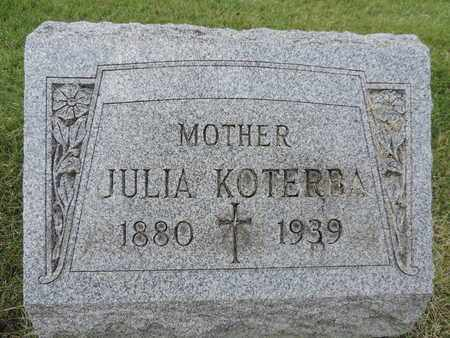 KOTERBA, JULIA - Franklin County, Ohio | JULIA KOTERBA - Ohio Gravestone Photos