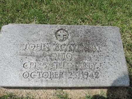 KOTLINSKI, JOHN - Franklin County, Ohio   JOHN KOTLINSKI - Ohio Gravestone Photos