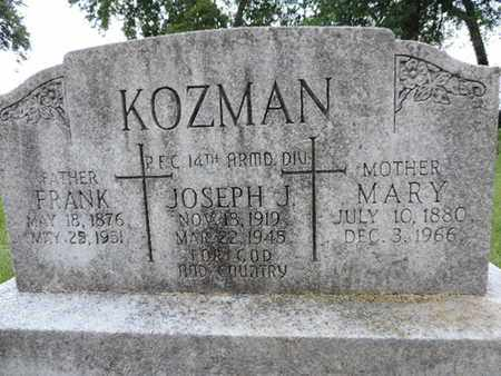 KOZMAN, JOSEPH J. - Franklin County, Ohio | JOSEPH J. KOZMAN - Ohio Gravestone Photos
