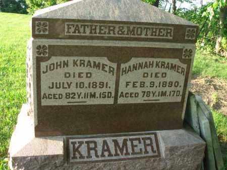KRAMER, HANNAH - Franklin County, Ohio | HANNAH KRAMER - Ohio Gravestone Photos
