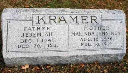 JENNINGS KRAMER, MARINDA - Franklin County, Ohio | MARINDA JENNINGS KRAMER - Ohio Gravestone Photos