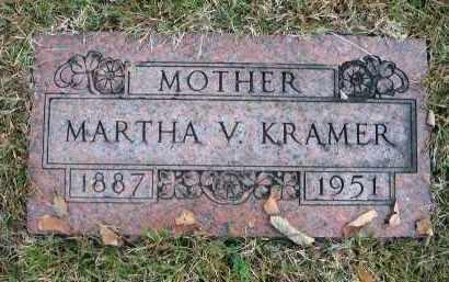 KRAMER, MARTHA V. - Franklin County, Ohio | MARTHA V. KRAMER - Ohio Gravestone Photos