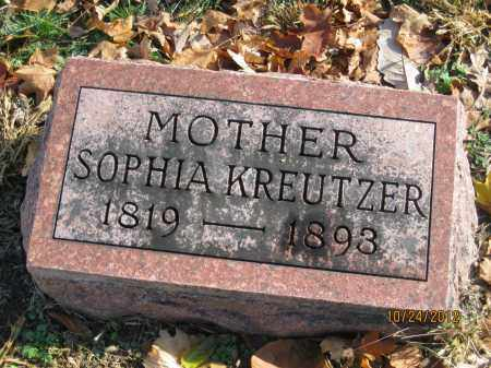 KREUTZER, SOPHIA - Franklin County, Ohio | SOPHIA KREUTZER - Ohio Gravestone Photos