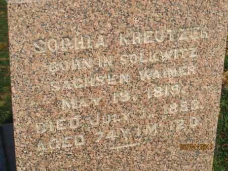 SNIDER KREUTZER, SOPHIA - Franklin County, Ohio | SOPHIA SNIDER KREUTZER - Ohio Gravestone Photos