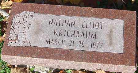 KRICHBAUM, NATHAN ELLIOT - Franklin County, Ohio | NATHAN ELLIOT KRICHBAUM - Ohio Gravestone Photos