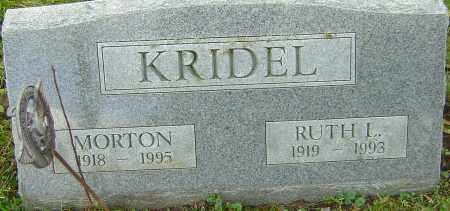 KRIDEL, MORTON - Franklin County, Ohio | MORTON KRIDEL - Ohio Gravestone Photos