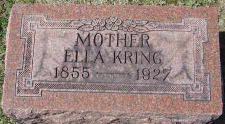 KRING, ELLA - Franklin County, Ohio | ELLA KRING - Ohio Gravestone Photos