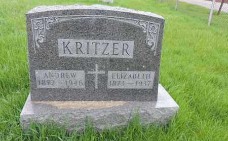 KRITZER, ELIZABETH - Franklin County, Ohio | ELIZABETH KRITZER - Ohio Gravestone Photos