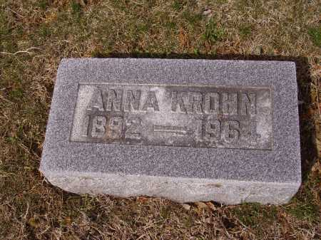 KROHN, ANNA - Franklin County, Ohio | ANNA KROHN - Ohio Gravestone Photos