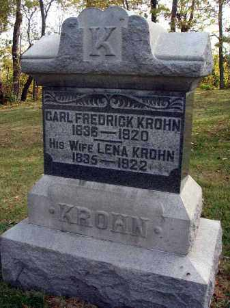KROHN, CARL FREDERICK - Franklin County, Ohio | CARL FREDERICK KROHN - Ohio Gravestone Photos