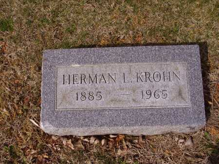 KROHN, HERMAN L. - Franklin County, Ohio | HERMAN L. KROHN - Ohio Gravestone Photos