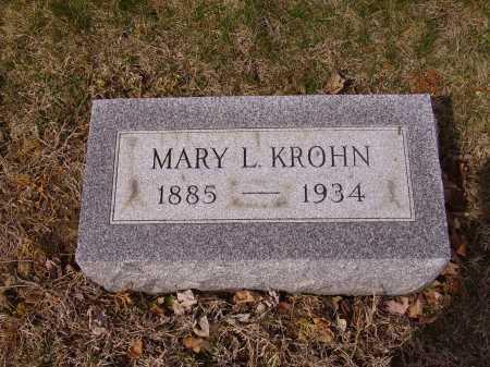KROHN, MARY L. - Franklin County, Ohio | MARY L. KROHN - Ohio Gravestone Photos