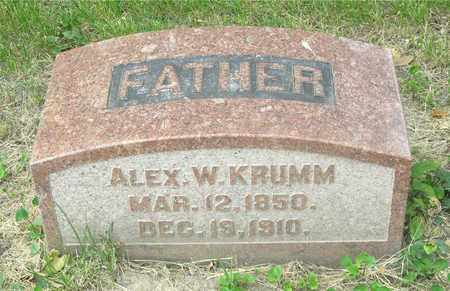 KRUMM, ALEX W. - Franklin County, Ohio | ALEX W. KRUMM - Ohio Gravestone Photos