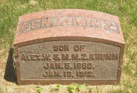 KRUMM, BENJAMIN Z. - Franklin County, Ohio | BENJAMIN Z. KRUMM - Ohio Gravestone Photos