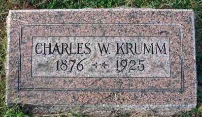 KRUMM, CHARLES W. - Franklin County, Ohio | CHARLES W. KRUMM - Ohio Gravestone Photos