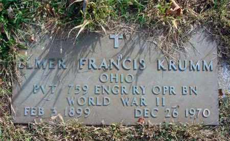 KRUMM, ELMER FRANCIS - Franklin County, Ohio | ELMER FRANCIS KRUMM - Ohio Gravestone Photos