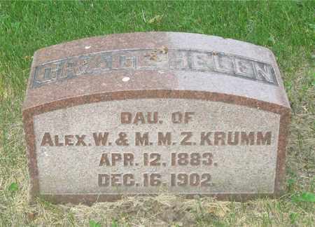KRUMM, GRACE HELEN - Franklin County, Ohio | GRACE HELEN KRUMM - Ohio Gravestone Photos