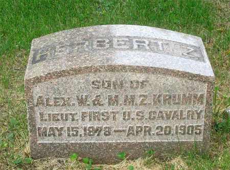 KRUMM, HERBERT Z. - Franklin County, Ohio | HERBERT Z. KRUMM - Ohio Gravestone Photos