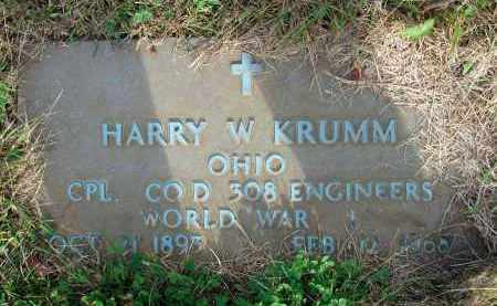 KRUMM, HARRY W. - Franklin County, Ohio | HARRY W. KRUMM - Ohio Gravestone Photos