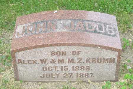 KRUMM, JOHN JACOB - Franklin County, Ohio | JOHN JACOB KRUMM - Ohio Gravestone Photos