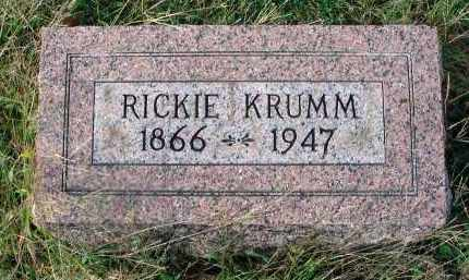 KRUMM, RICKIE - Franklin County, Ohio | RICKIE KRUMM - Ohio Gravestone Photos