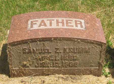 KRUMM, SAMUEL Z. - Franklin County, Ohio | SAMUEL Z. KRUMM - Ohio Gravestone Photos