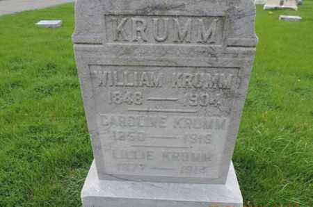 KRUMM, WILLIAM - Franklin County, Ohio | WILLIAM KRUMM - Ohio Gravestone Photos