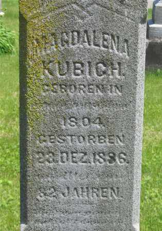 KUBICH, MAGDALENA - Franklin County, Ohio | MAGDALENA KUBICH - Ohio Gravestone Photos